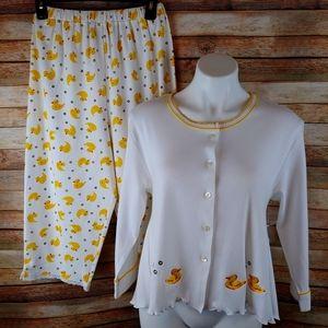 Rocket wear just ducky capri pajamas NWOT  S